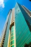 De wolkenkrabbersachtergrond van Doubai Royalty-vrije Stock Afbeelding