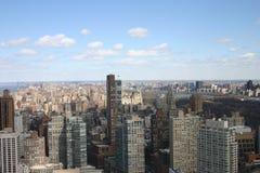 De Wolkenkrabberscentral park van New York en Hudson River Stock Afbeeldingen