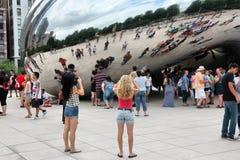 De Wolkenpoort van Chicago Stock Afbeeldingen