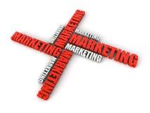 De wolkenwoord van de marketing royalty-vrije illustratie