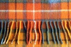De woltextuur van het geruite Schotse wollen stof Stock Foto's