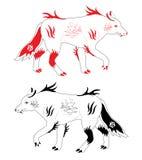 De wolven van de sneeuw Stock Fotografie