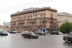 De woningbouw op straat 28/35 Novinsky-Boulevard Stock Fotografie