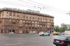 De woningbouw op straat 28/35 Novinsky-Boulevard in Moskou Royalty-vrije Stock Fotografie