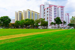 De woningbouw van Singapore Stock Foto's