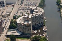 De Woningen Chicago van de Stad van de rivier Royalty-vrije Stock Afbeeldingen