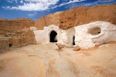 De woningen van de holbewoner, Tunisia2 stock fotografie