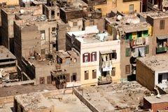 De woningen van de krottenwijk in Kaïro Egypte Royalty-vrije Stock Foto