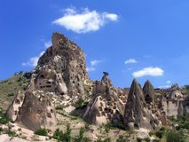 De Woningen van het hol in Cappadocia, Turkije Royalty-vrije Stock Afbeelding