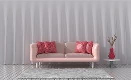 De woonkamer in mooie dag Binnenlands ontwerp Stock Afbeeldingen