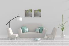 De woonkamer ontspant binnen dag Stock Foto's