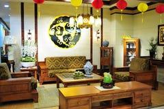 De woonkamer van de Chinees-stijl stock fotografie