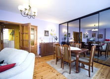De woonkamer van de spiegel royalty-vrije stock afbeelding