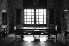 De woonkamer van het kasteel Stock Foto's