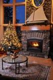 De woonkamer van Kerstmis Stock Afbeeldingen