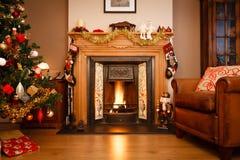 De woonkamer van Kerstmis Stock Afbeelding