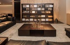 De woonkamer van moderne Chinese families royalty-vrije stock afbeeldingen