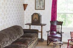 de woonkamer van 1920 ` s Stock Afbeeldingen