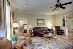 De woonkamer van Upscale stock foto