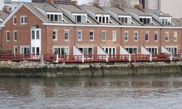 De woonplaats van de waterkant Stock Foto's