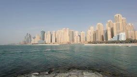 De Woonplaats van het Strand van Jumeirah, Doubai stock footage