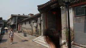 De woonsteeg van Peking stock videobeelden