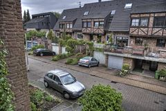 De Woonstraat Duitsland van Aken stock foto's