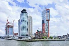 De woontoren van Montevideo, Rotterdam, Holland. Stock Afbeeldingen