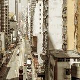 De woonwijk van Hongkong Stock Afbeelding