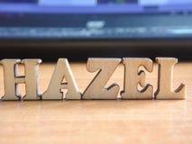 De woord` hazelaar ` royalty-vrije stock foto's