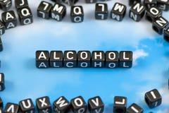 De woordalcohol royalty-vrije stock foto's