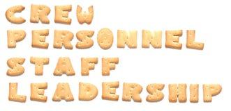 De woorden die van koekjes worden gemaakt Stock Fotografie
