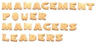 De woorden die van koekjes worden gemaakt Royalty-vrije Stock Foto