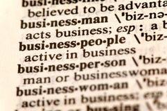 De woorden van Businesspeople stock fotografie