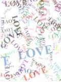 De woorden van de liefde Stock Afbeeldingen