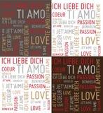 De woorden van de liefde Royalty-vrije Illustratie