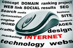 De woorden van Internet Royalty-vrije Stock Foto