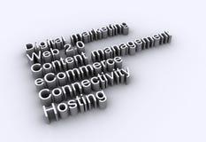De woorden van Internet - Web 2.0 stock illustratie