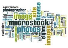 De woorden van Microstock Stock Foto's
