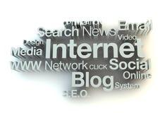 De woordenconcept van Internet royalty-vrije illustratie