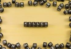 De woordmoordenaar stock foto