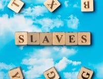 De woordslaven stock foto's
