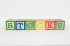 De Word Voorraden in de Blokken van Houten Kinderen royalty-vrije stock afbeeldingen