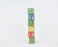 De Word Voorraden in de Blokken van Houten Kinderen stock fotografie