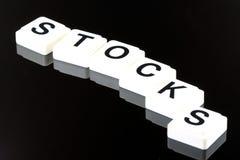 De Word Voorraden - een Termijn die voor Zaken in Financiën en Effectenbeurs Handel wordt gebruikt royalty-vrije stock foto