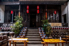 De workshop van de de stadswijn van Jiangsuwuxi Huishan Royalty-vrije Stock Fotografie