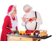 In de Workshop van de Kerstman Royalty-vrije Stock Foto's