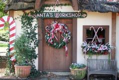 De Workshop van de kerstman stock foto's