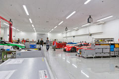 De Workshop van de Nismoraceauto Royalty-vrije Stock Fotografie