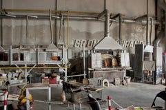 De workshop van het glas in Murano eiland, Venetië, Italië Royalty-vrije Stock Afbeelding